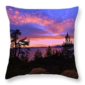 Lake Tahoe Crescendo Throw Pillow