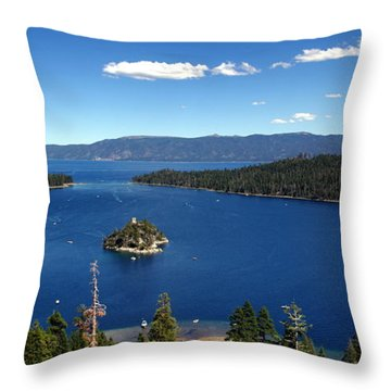 Lake Tahoe Emerald Bay Throw Pillow