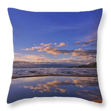 Lake Tahoe Evening Throw Pillow