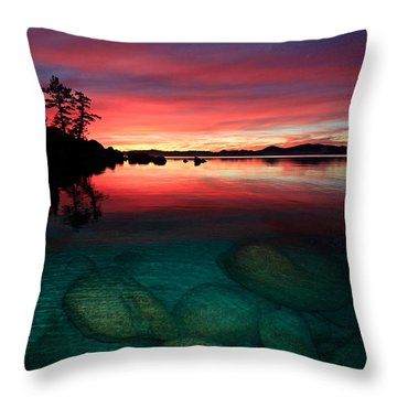 Lake Tahoe Jewels Throw Pillow