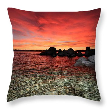 Lake Tahoe Liquid Dreams Throw Pillow