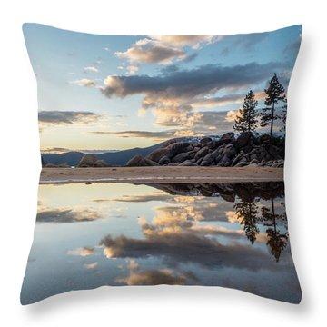 Lake Tahoe Mirror Throw Pillow