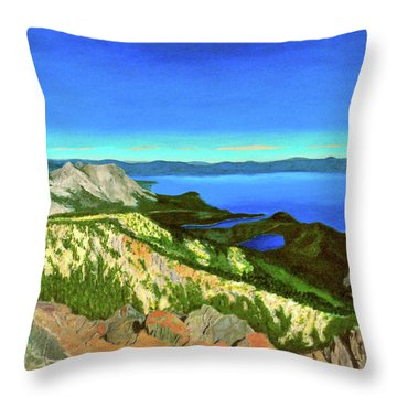 Lake Tahoe Panorama Throw Pillow