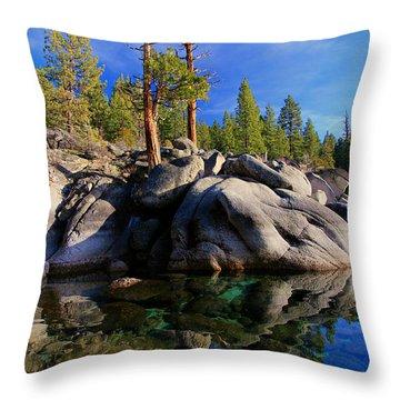 Lake Tahoe Rocks Throw Pillow