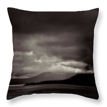 Lake Tahoe Storm Throw Pillow