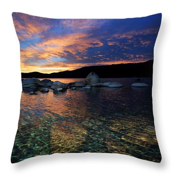 Lake Tahoe Sundown Throw Pillow