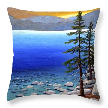 Lake Tahoe Sunrise Throw Pillow by Frank Wilson