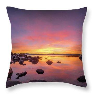 Lake Tahoe Sunset Peace Throw Pillow