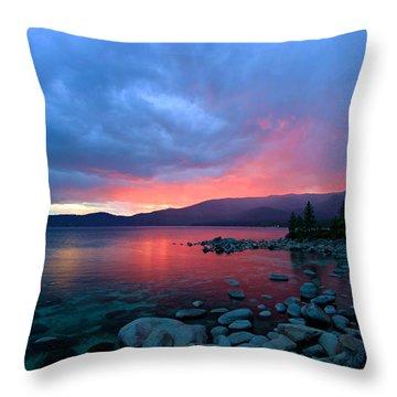 Lake Tahoe Sunset Throw Pillow