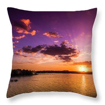 Lake Tarpon Sunset Throw Pillow