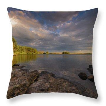 Lake Three Throw Pillow