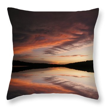 Lake Thunderbird Sunset Throw Pillow
