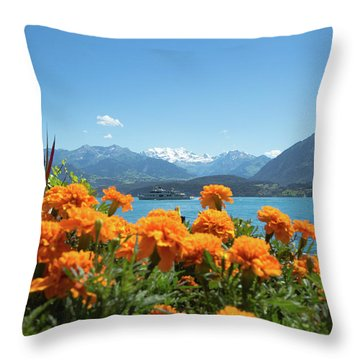 Lake Thunersee Throw Pillow