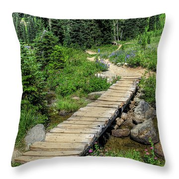 Lake Tipsoo Trail Throw Pillow