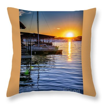 Throw Pillow featuring the photograph Lake Travis by Walt Foegelle