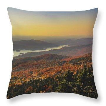 Lake Tremblant At Sunset Throw Pillow