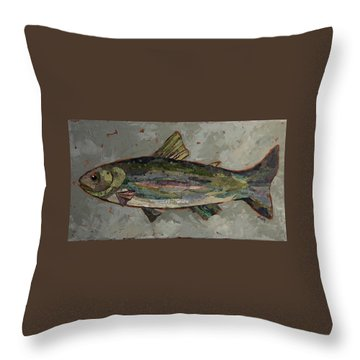 Lake Trout Throw Pillow