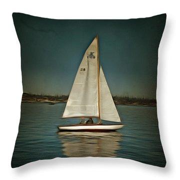 Lake Union Day Sailing Throw Pillow