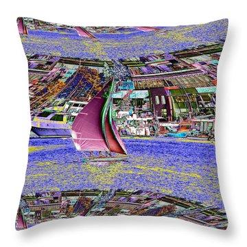 Lake Union Sail Throw Pillow by Tim Allen