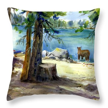 Lake Valley Bear Throw Pillow