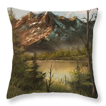 Lake View Mountain  Throw Pillow