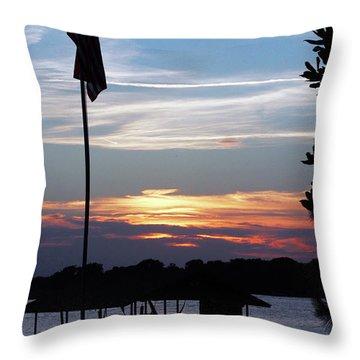 Lake View Sunset Throw Pillow