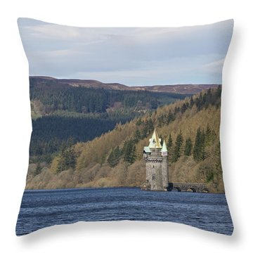 Throw Pillow featuring the photograph Lake Vyrnwy  by Stephen Taylor