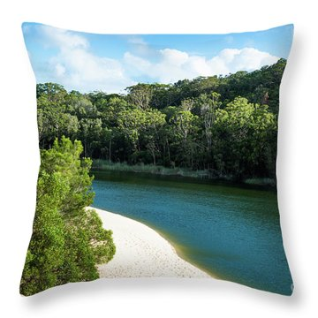 Lake Wabby Throw Pillow