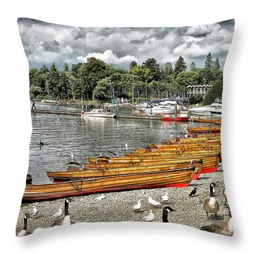 Throw Pillow featuring the photograph Lake Windamere by Walt Foegelle