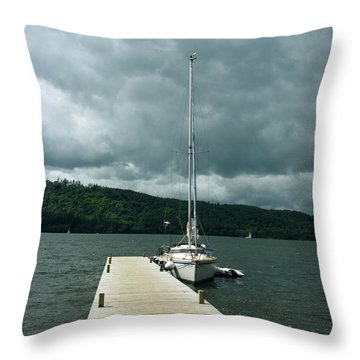 Lake Windermere Throw Pillow by Mini Arora
