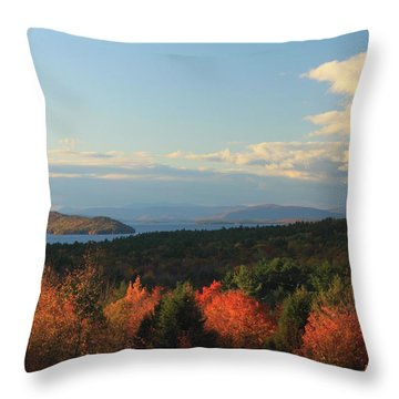 Lake Winnipesaukee Overlook In Autumn Throw Pillow