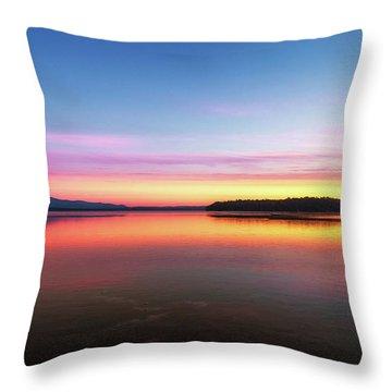 Lake Winnipesaukee Reflections Throw Pillow