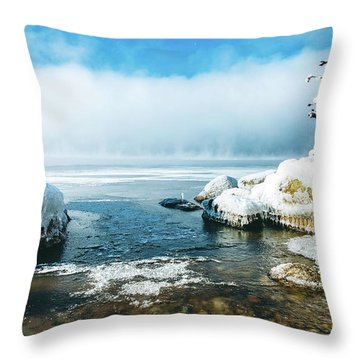 Throw Pillow featuring the photograph Lake Winnisquam by Robert Clifford