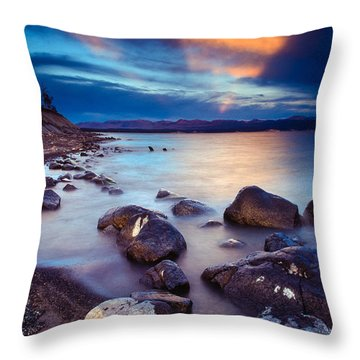 Lake Yellowstone Throw Pillow by Inge Johnsson