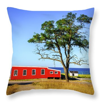 Throw Pillow featuring the photograph Lakefront In Glen Arbor by Alexey Stiop