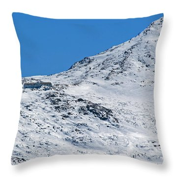 Lakes Of The Clouds Hut And Mount Monroe Throw Pillow