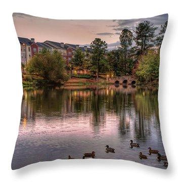Lakeside At Milton Park Throw Pillow