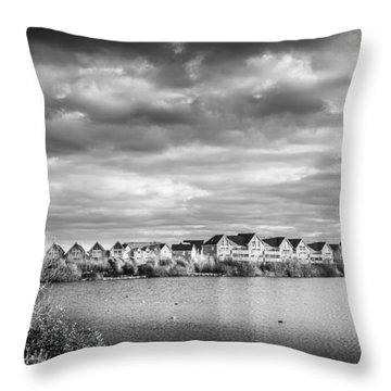 Throw Pillow featuring the photograph Lakeside Houses by Gary Gillette