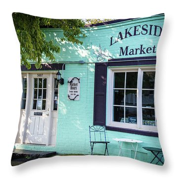 Lakeside Market Throw Pillow