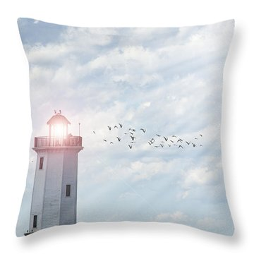 Throw Pillow featuring the photograph Lakeside Park Lighthouse by Joel Witmeyer