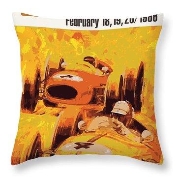 Lakeside Racing Throw Pillow by Gary Grayson