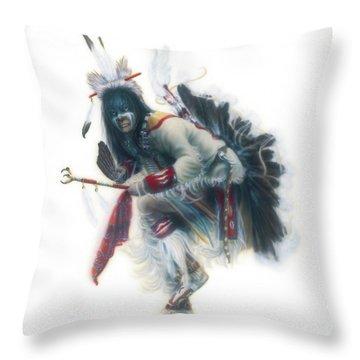 Lakota Dancer Throw Pillow