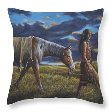 Lakota Sunrise Throw Pillow