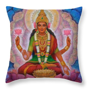 Lakshmi Blessing Throw Pillow