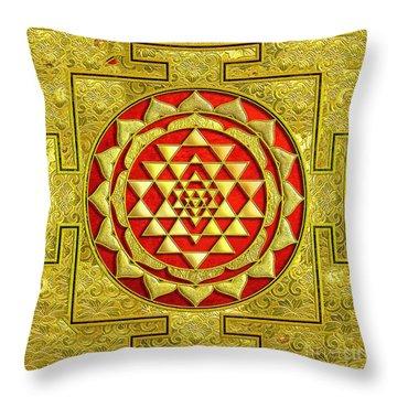 Lakshmi Kubera Yantra Throw Pillow