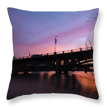 Lamar Blvd Bridge Throw Pillow