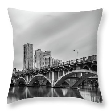 Lamar Bridge In Austin, Texas Throw Pillow