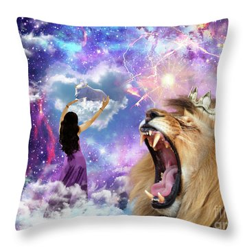 Lamb Of God Throw Pillow by Dolores Develde