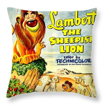 Lambert The Sheepish Lion, 1952 Walt Disney Cartoon Throw Pillow
