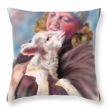Lambie Love Throw Pillow
